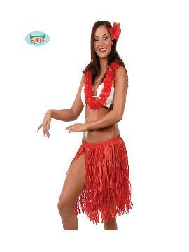 conjunto hawaiano rojo 3 piezas