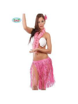 conjunto hawaiano rosa 3 piezas