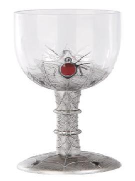 copa para halloween con decoracion araña tamaño real