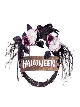 corona con letrero halloween