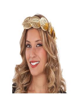 corona de laurel dorada
