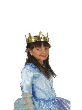 corona de reina infantil oro