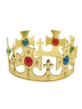 corona de rey color oro 57 cm