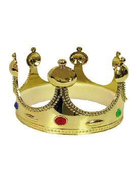 corona de rey dorada de 55 cm