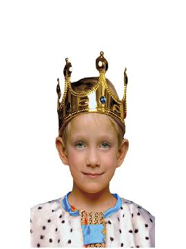 corona de rey infantil dorada