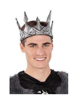 corona de rey plateada 58 cm