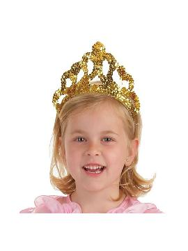 corona dorada de princesa infantil