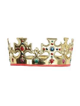 corona dorada de rey en plastico