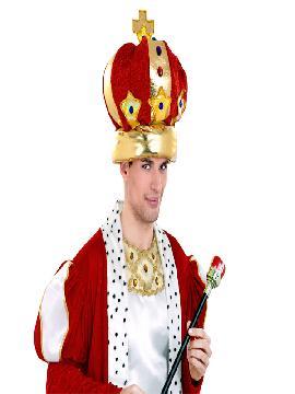 corona rey roja lujo adulto