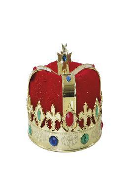 corona rey roja y dorada adulto