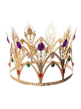 corona de reina dorada