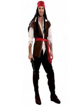 disfraz de corsario hombre adulto. Con este traje de bucanero te sentirás como un bandido de los océanos, pero sin perder un ápice de glamour, en Carnaval.Este disfraz es ideal para tus fiestas temáticas de disfraces piratas, bucaneros y corsarios de hombre adultos.