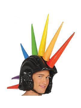 cresta punk hinchable multicolor