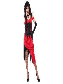 disfraz demonia sexy adulto para mujer. El traje de demonia roja y negra es ideal para la fiesta de Halloween o para cualquier otra fiesta. Este disfraz es ideal para tus fiestas temáticas de disfraces miedo y terror para mujer adultos.