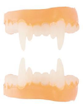dentadura de latex con colmillos dracula
