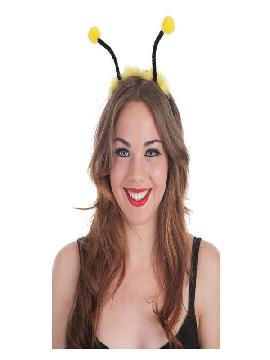 diadema antenas abeja o avispa amarillas