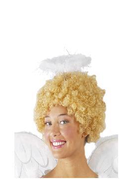 diadema de angel blanca