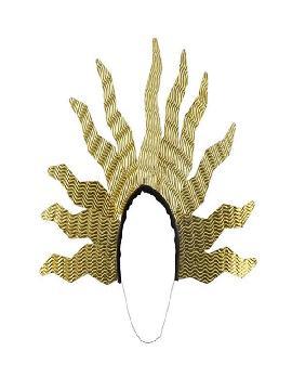 diadema de rayos de sol dorados