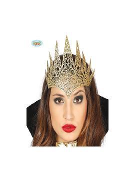 diadema de reina oro