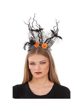 diadema halloween con murcielagos