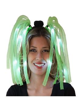 diadema loca con luz verde