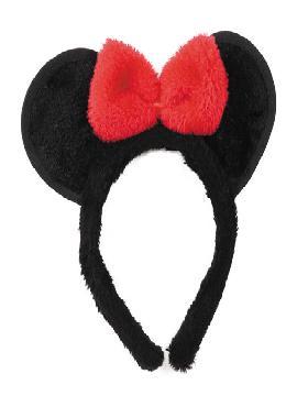 diadema ratita con orejas y lazo de tejido