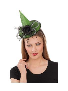 diadema sombrero bruja verde halloween