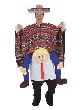 disfraz a hombros mister donald con mexicano adulto