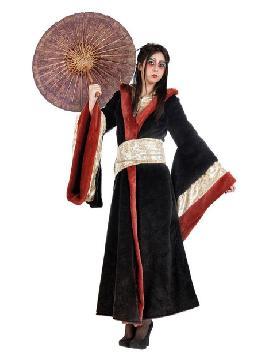 disfraz abrigo de gheisa mujer deluxe. Como recién llegado de japón te ofrecemos este vistoso disfraz gheisa, conviértete en una bella y tradicional dama nipona con este maravilloso disfraz oriental.Este disfraz es ideal para tus fiestas temáticas de disfraces de ninja,chinos,orientales y geishas para mujer adultos.