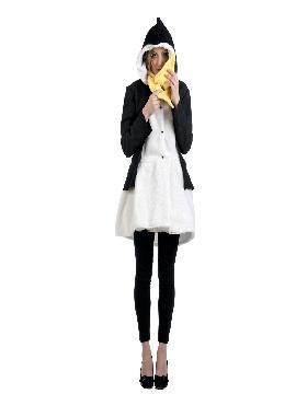 disfraz abrigo de pinguina mujer varias tallas. Es perfecto para convertirte en un adorable y gracioso animal del polo sur y sorprender en tus fiestas de disfraces, despedidas.Este disfraz es ideal para tus fiestas temáticas de disfraces de animales para adulto