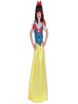 disfraz blancanieves largo niñas,te sentirás una auténtica princesa disney de tus fiestas de cumpleaños o escolares.Este disfraz es ideal para tus fiestas temáticas de disfraces de princesas y principes para niñas infantiles.