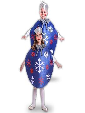 disfraz bola de navidad azul para niños infantiles. Serás el adorno más divertido de las celebraciones de Navidad. Este disfraz es ideal para tus fiestas temáticas de disfraces de navidad y cabalgatas de reyes.