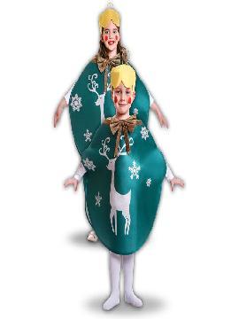 disfraz bola de navidas verde para niños infantiles. Serás el adorno más divertido de las celebraciones de Navidad. Este disfraz es ideal para tus fiestas temáticas de disfraces de navidad y cabalgatas de reyes.