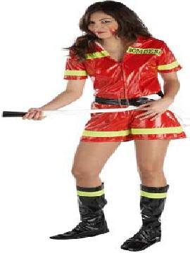 Disfraz bombera barata para mujer. Te convertirás en una auténtica luchadora contra el fuego,con este disfraz bombera sexy mujer,deslumbrarás en todas las fiestas temáticas, despedidas de solteros y carnavales.Este disfraz es ideal para tus fiestas temáticas de disfraces de uniformes de trabajo y deporte para mujer adultos.