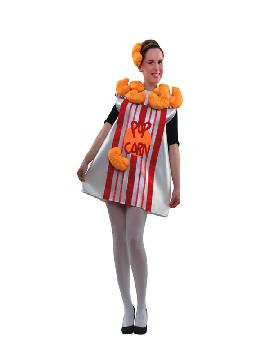 disfraz caja de palomitas para mujer