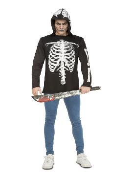 disfraz camiseta de esqueleto casual para hombre