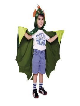 disfraz capa dinosaurio para niño