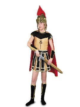 disfraz centurión romano infantil varias tallas. Tu hijo será el valiente héroe de la mitología griega. Defiende a los humanos de los monstruos como la hidra para que disfruten de las fiestas de Carnaval y cabalgatas de reyes.Este disfraz es ideal para tus fiestas temáticas de disfraces romanos y egipcios para infantil