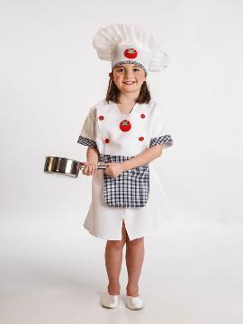 disfraz cocinera para niña.hará que las más pequeñas de la casa sientan curiosidad por la cocina y podrás transformarla en ganadora de máster chef junior es sus fiestas tematicas. Este disfraz es ideal para tus fiestas temáticas de disfraces de uniformes de trabajo y deporte para niñas infantiles.