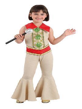 Disfraz de abba para niña. Estarás preparada para cantar en eurovisión al estilo 70. Vete ensayando con el resto de componentes del grupo sueco para triunfar Carnaval o cualquier fiesta disco. Este disfraz es ideal para tus fiestas temáticas de disfraces de hippies y años 60,70 y 80 para infantiles. fabricacion nacional