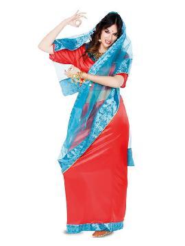 disfraz de actriz de bollywood para mujer