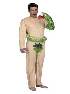 disfraz de adan con serpiente para hombre