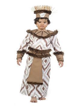 disfraz de africano deluxe niño