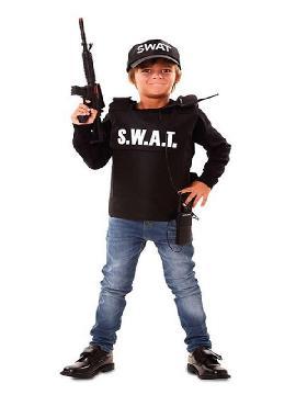 disfraz de agente swat para niño