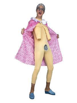 disfraz de anciana exhibicionista para hombre