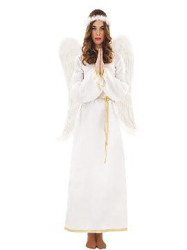 disfraz de angel blanco adulto