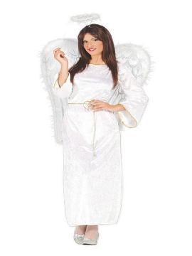disfraz de angel blanco terciopelo mujer