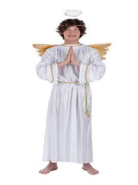 disfraz de angel con alas doradas adulto