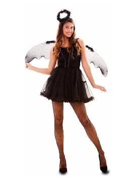 disfraz de angel negro para mujer