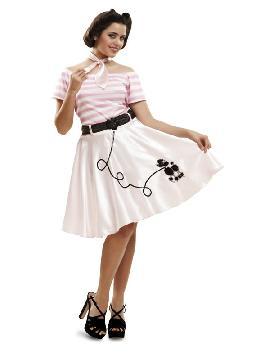 disfraz de año 50 rayas mujer
